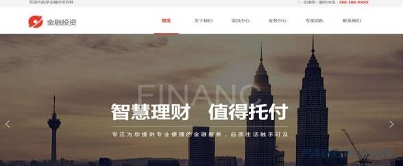 金融企业网站模板 T9911.jpg