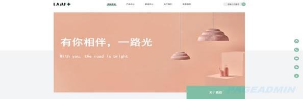 照明公司网站模板T9871.jpg