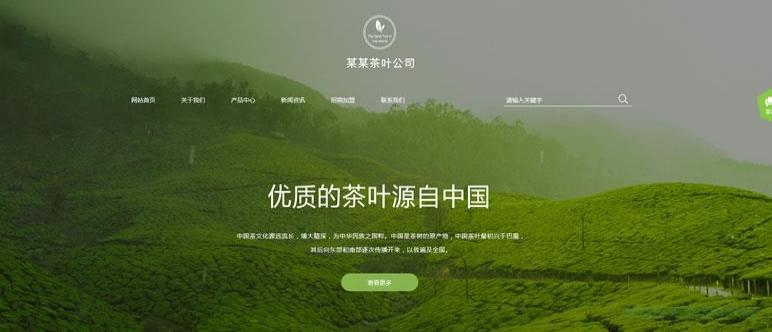茶叶公司网站模板 T9876.jpg